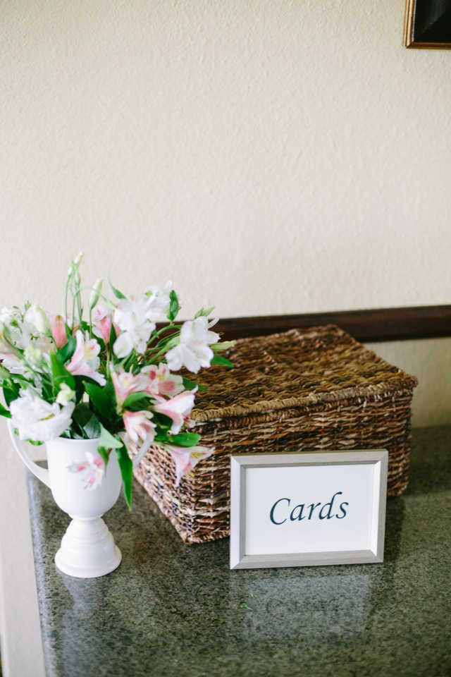 ask for money on your wedding day with a card box