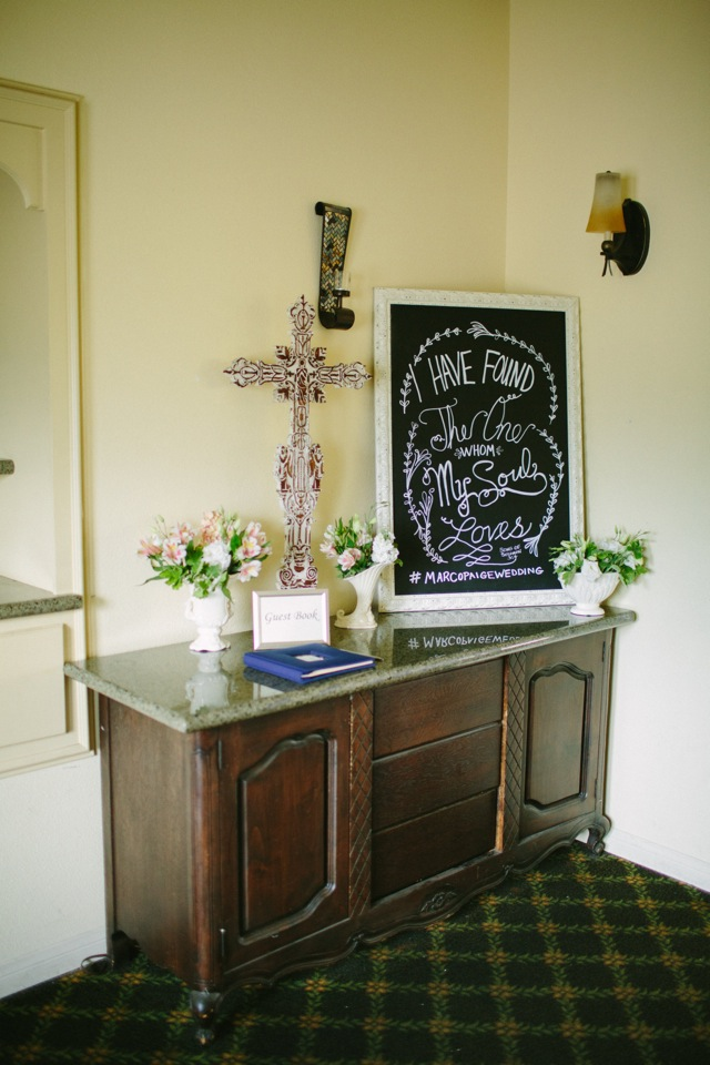 decorated entryway at wedding