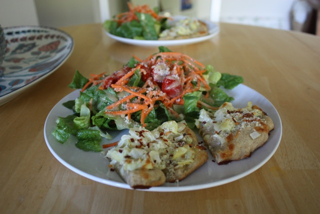 dinner pizza and salad