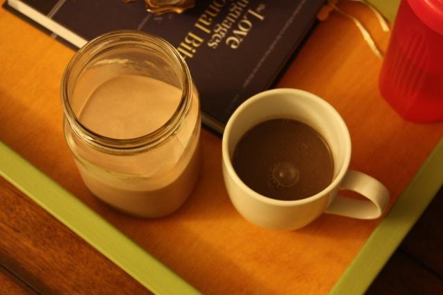 hot chocolate with my husband