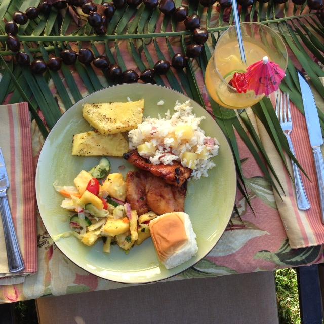 dinner hawaiian style