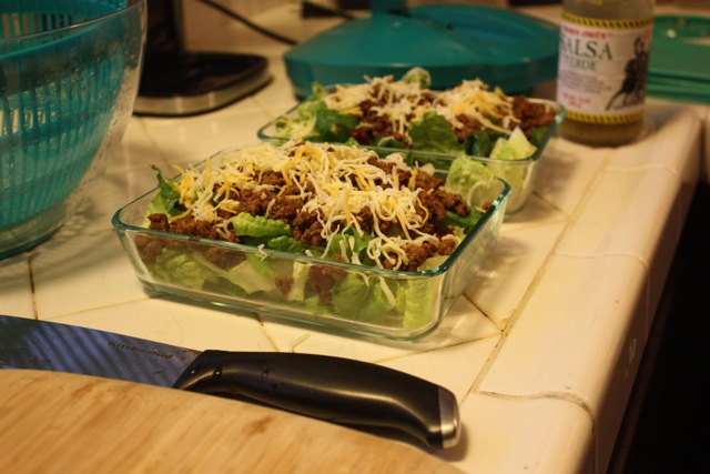 leftover dinner tacos to taco salad