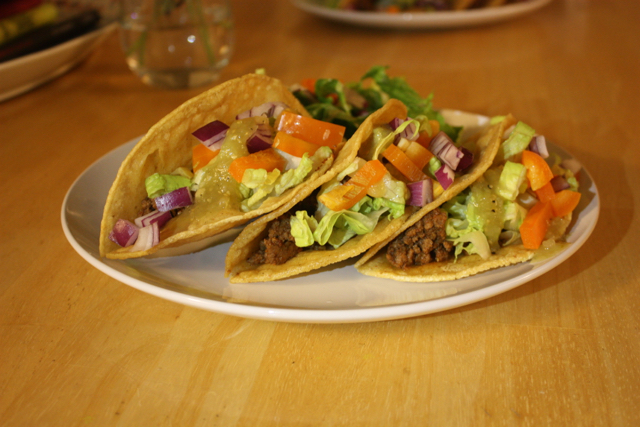 tacos homemade hard shell
