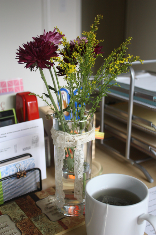 keep flowers in your office