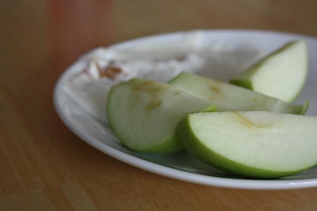 apples and yogurt