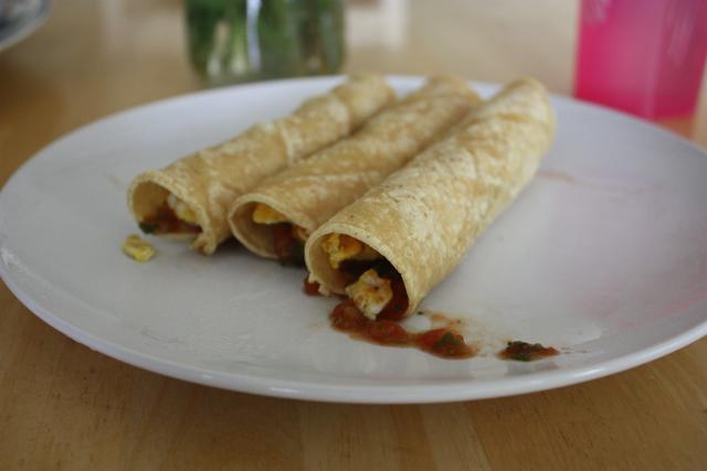eggs and corn tortillas