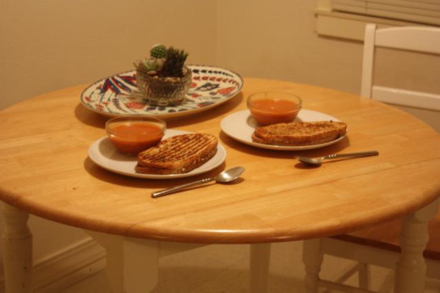 tomato soup and paninis