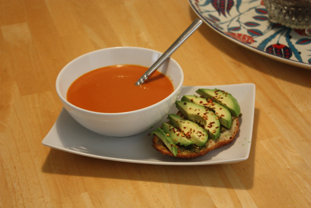avo toast and soup