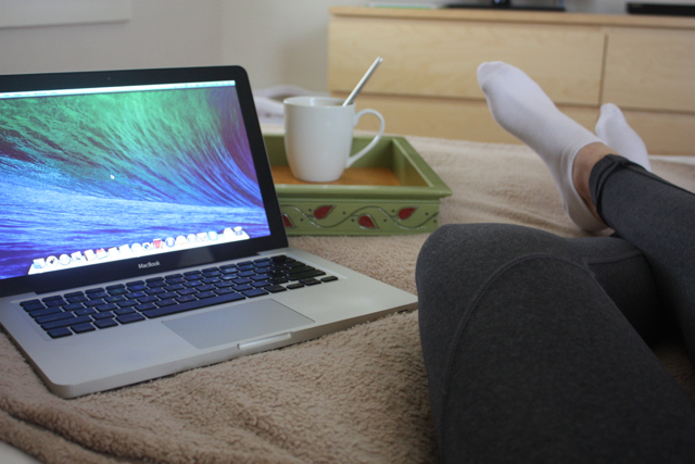 working from bed