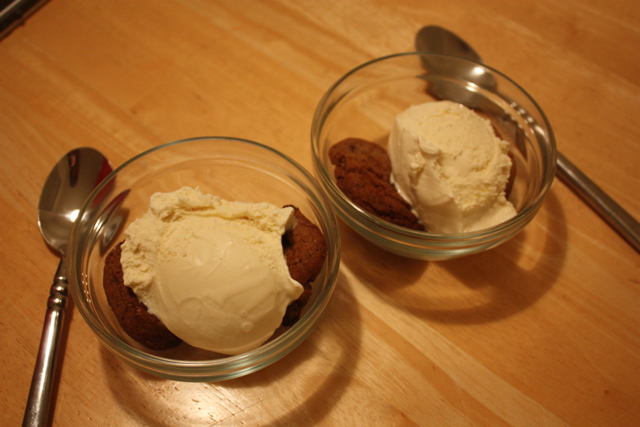 cookies and ice cream at home
