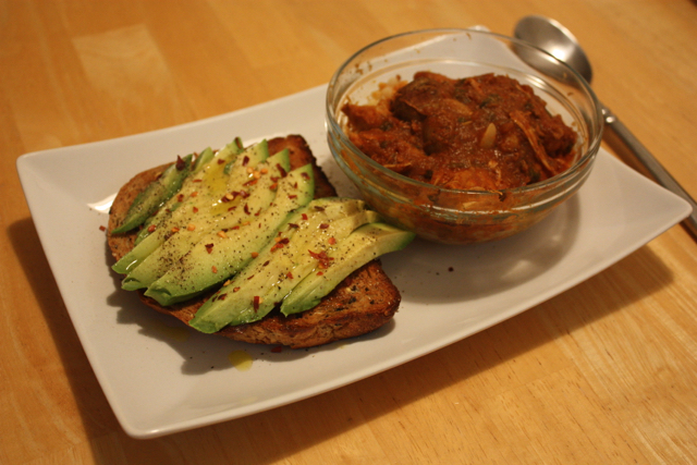 avocado toast and chicken masala