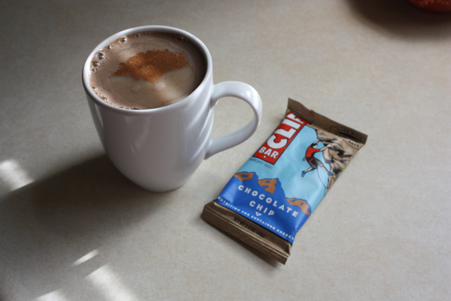 clif bar and coffee