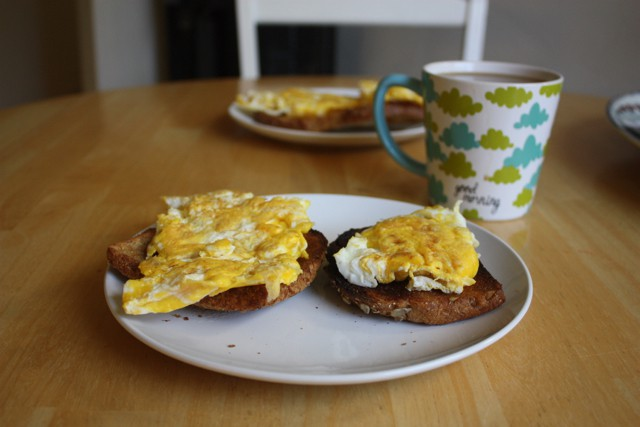 eggs on toast