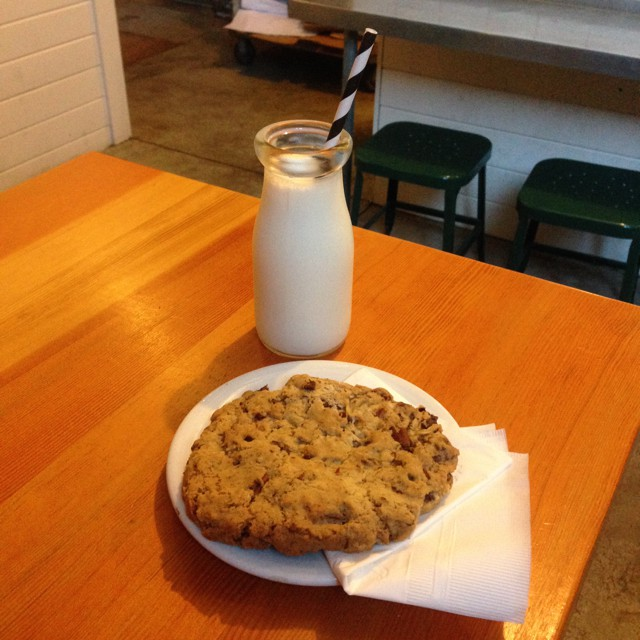 cookie & milk at scout