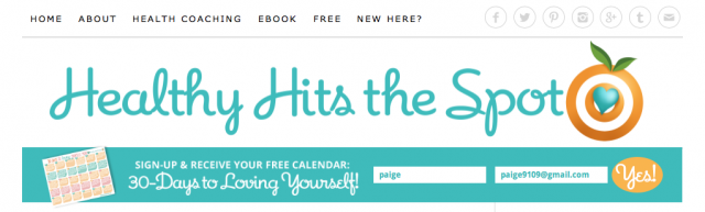 healthy hits the spot opt-in