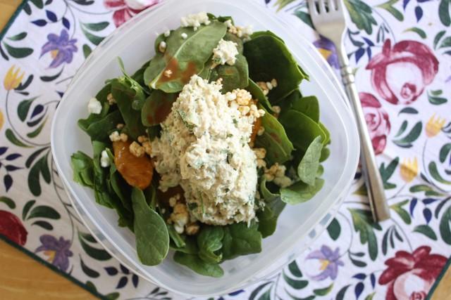 spinach salad & tuna