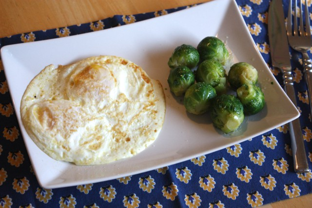 eggs and brussels sprouts