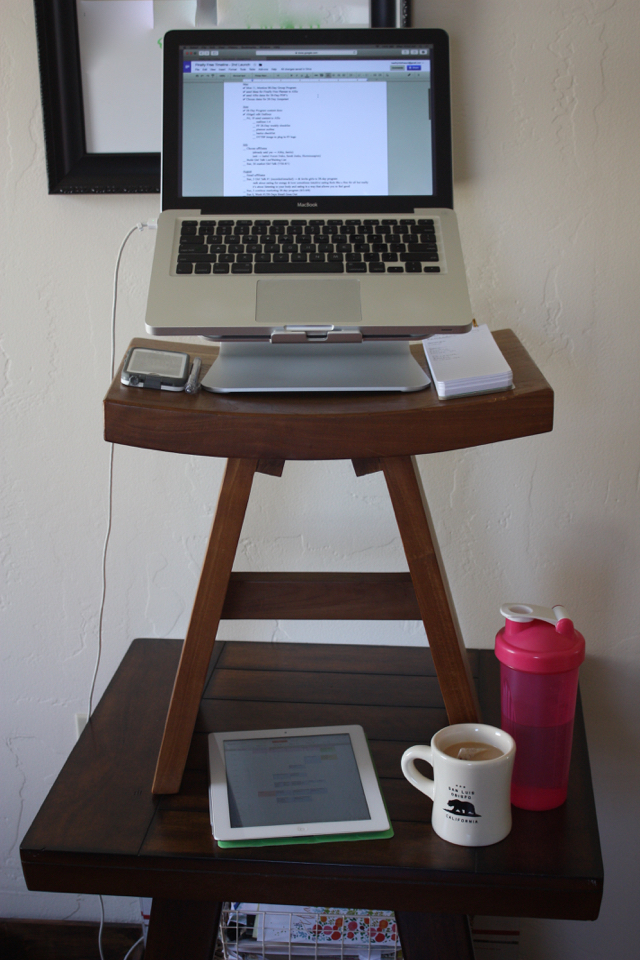 healthy hits the spot diy standing desk