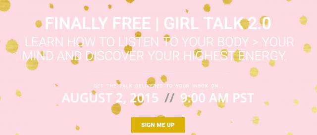 Finally Free Girl Talk