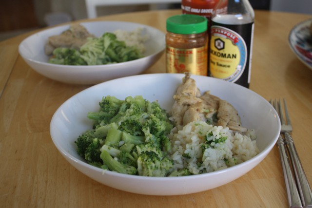 chicken, broccoli and rice