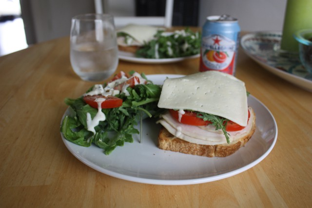 turkey blt with arugula