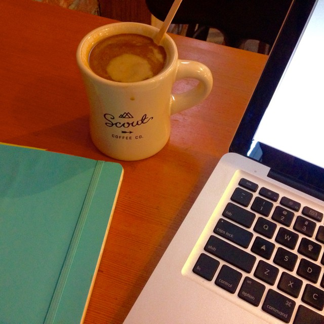 working at scout coffee