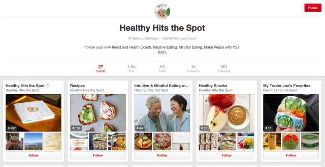 Healthy Hits the Spot Pinterst