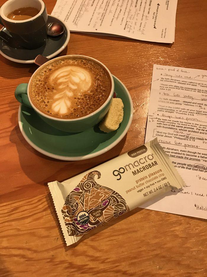 Daily Eats | Healthy Hits the Spot | Macro Bar and Cappuccino