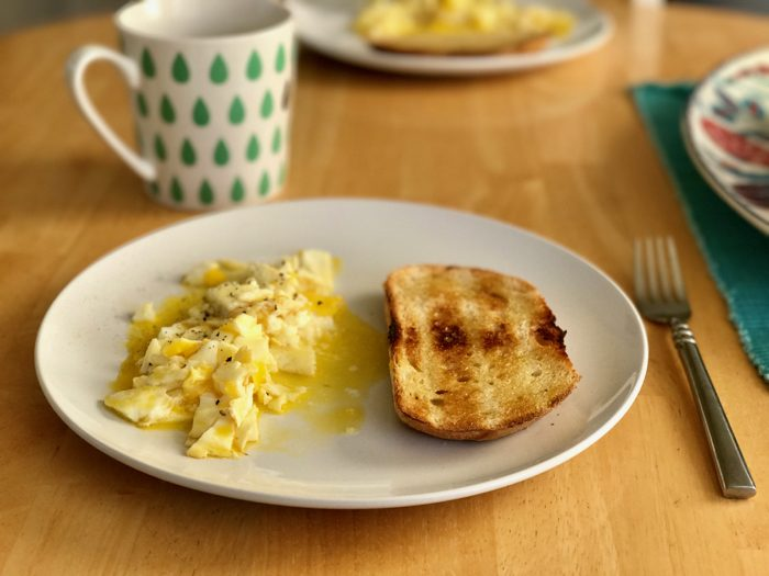 Paige Schmidt's Go-To Breakfast Scrambled Eggs and Sourdough Toast
