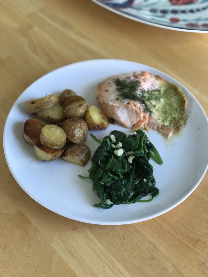 Daily Eats | Healthy Hits the Spot | Salmon, Spinach, and Potatoes