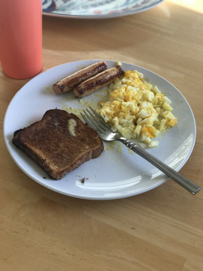 Daily Eats | Healthy Hits the Spot | Eggs, Toast, and Sausage